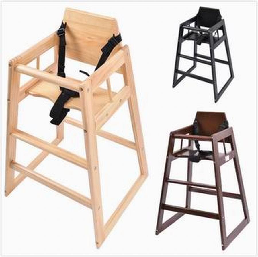 Trona de bebe Silla de Madera para ninos cinturon de seguridad 3 colores BB4506 silla de director plegable de madera con bolsas para maquillaje pelicula studio hw46460