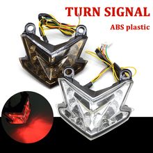 Hot Motorcycle LED Tail Light Tail Lamp Integrated Turn Signals Blinker For KAWASAKI NINJA ZX6R ZX-6R ZX 6R 636 Z800 2013 2014 цена и фото