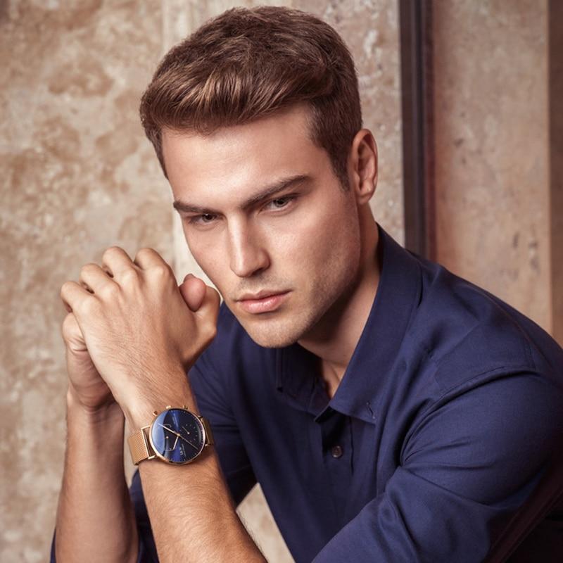 Хронограф светящийся Часы мужские 42 мм Япония miyota OS20 Move Мужские t кварцевые часы с ремешком из стали браслет черный ободок водонепроницаемы... - 6