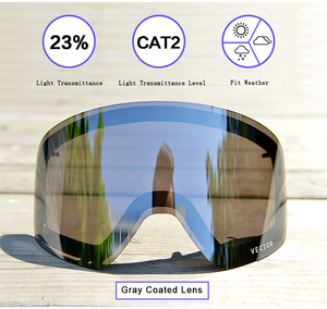 Image 4 - Only Lens For HXJ20011 Anti fog UV400 Skiing Goggles Lens Glasses Weak Light tint Weather Cloudy Brightening