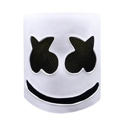 Музыка Зефир латексная маска для косплея DJ Marshmello Cos HeadgearHalloween взрослых Cos Аксессуар Белый Черный средства ухода для век Прямая доставка