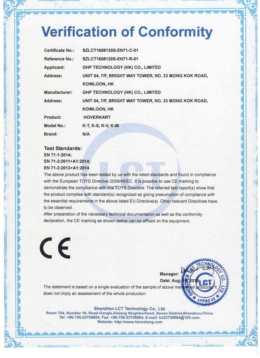 CE_EN71-Hoverkart-GHP Tech.