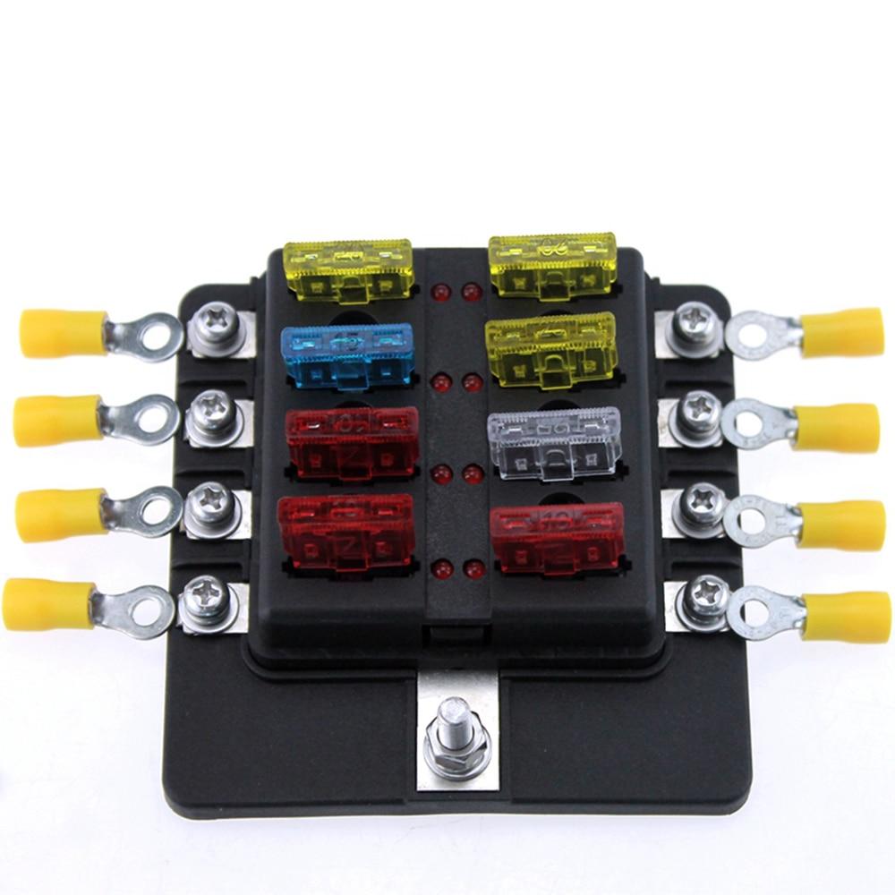 hight resolution of newest 8 way blade fuse box led indicator fuse block for automotive automotive blade fuse box