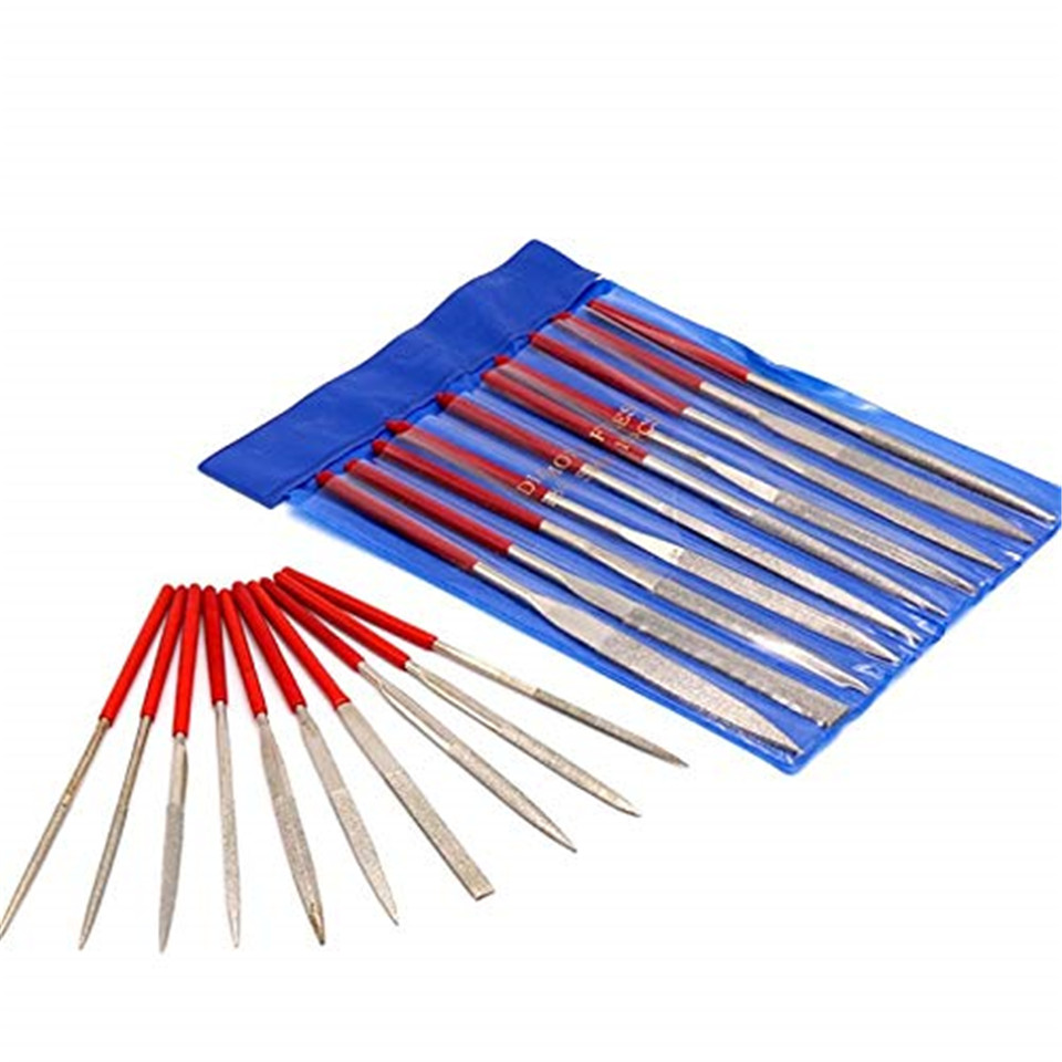 Dateien Werkzeuge Zielstrebig 10 Stücke Mini Nadel Diamant Datei Set 140mm/5.51in Länge Carbon Stahl Material Mit Anti-rutsch-griff Für Feine Detail Arbeit