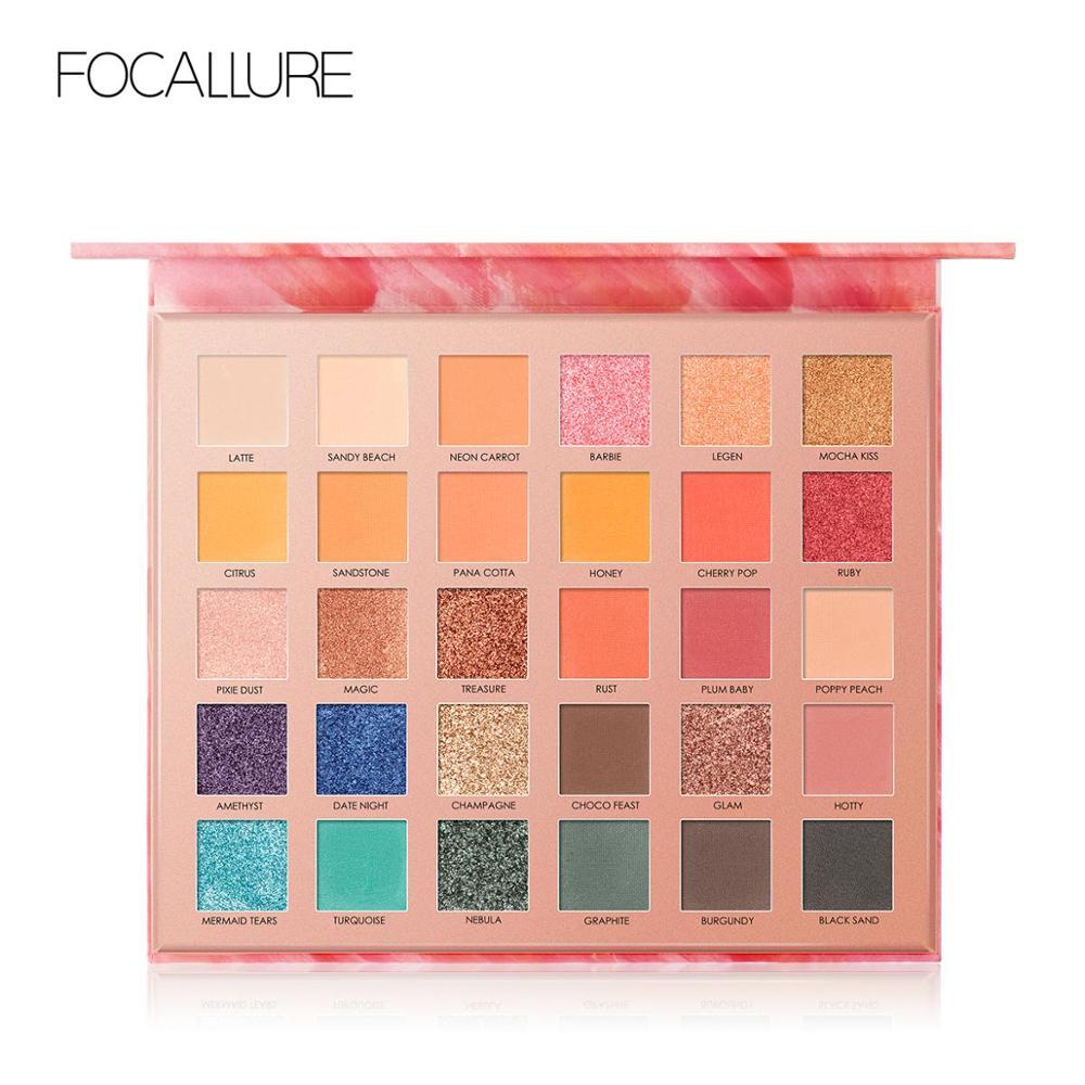 FOCALLURE High Quality 30 Colors Eyeshadow Palette Glitter Matte Powdery Shades Makeup Palette Eye Shadow