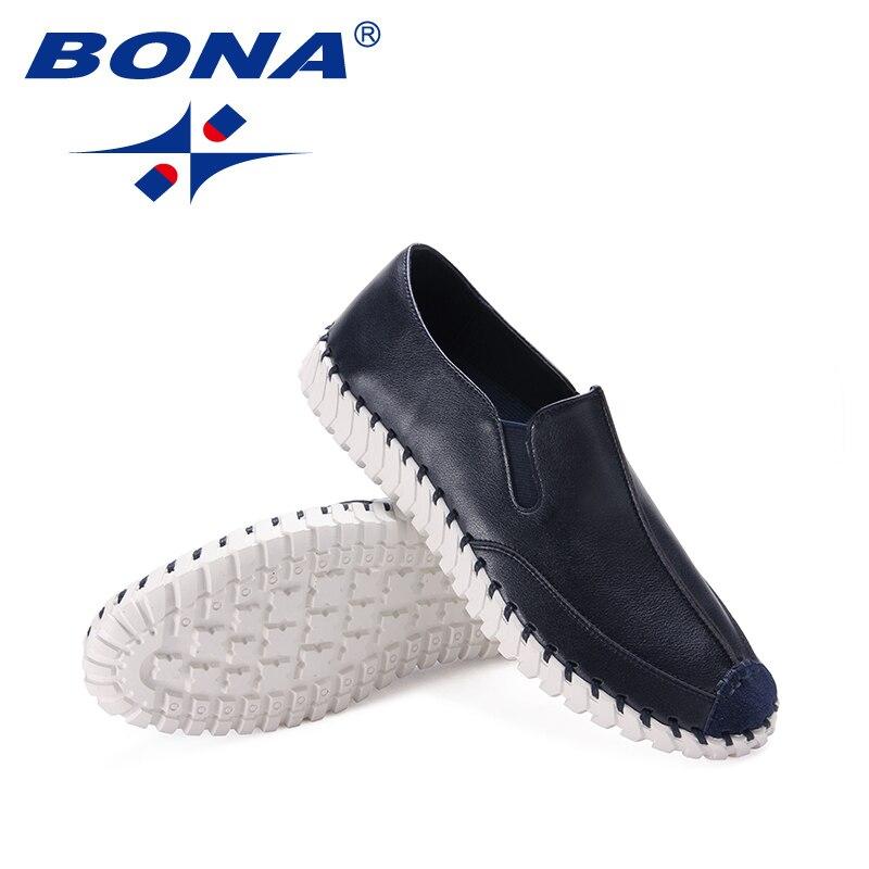 Flats white Homens Black Casuais Rápido Grey Blue De deep Chegada Sapatos Elástico Nova Classics dark Grátis Confortável Bona Loafers Microfibra Frete Estilo qxHIzwag