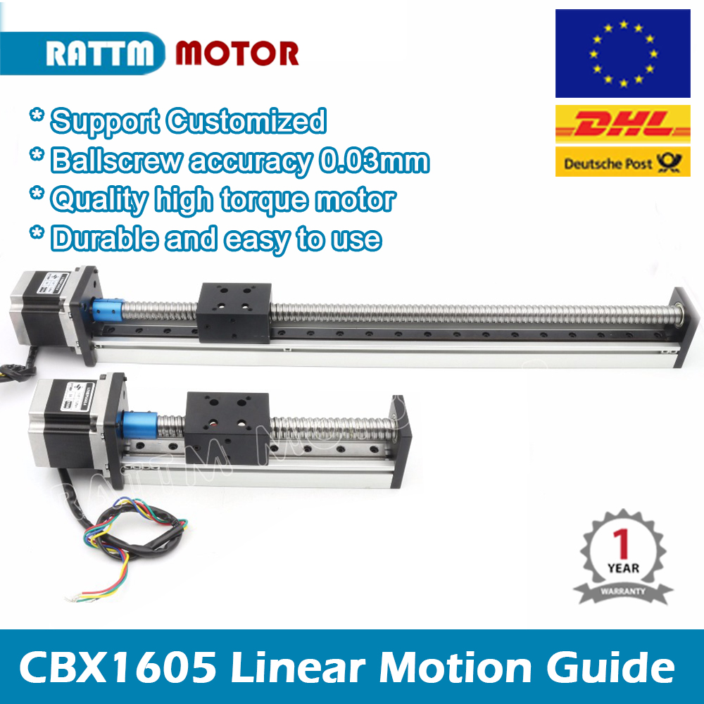 CNC Linear Guide Stage Rail Motion Slide <font><b>100</b></font> <font><b>200</b></font> 300 400 500mm Table Ball Screw linear actuator stepper XYZ stage For 3D printer image
