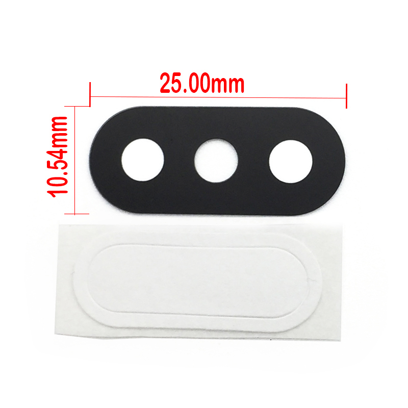 2Pcs/lot, Rear Camera Glass Lens With Sticker Glue Ahesive For Xiaomi Redmi 6 Pro / Mi A2 Lite High Quality