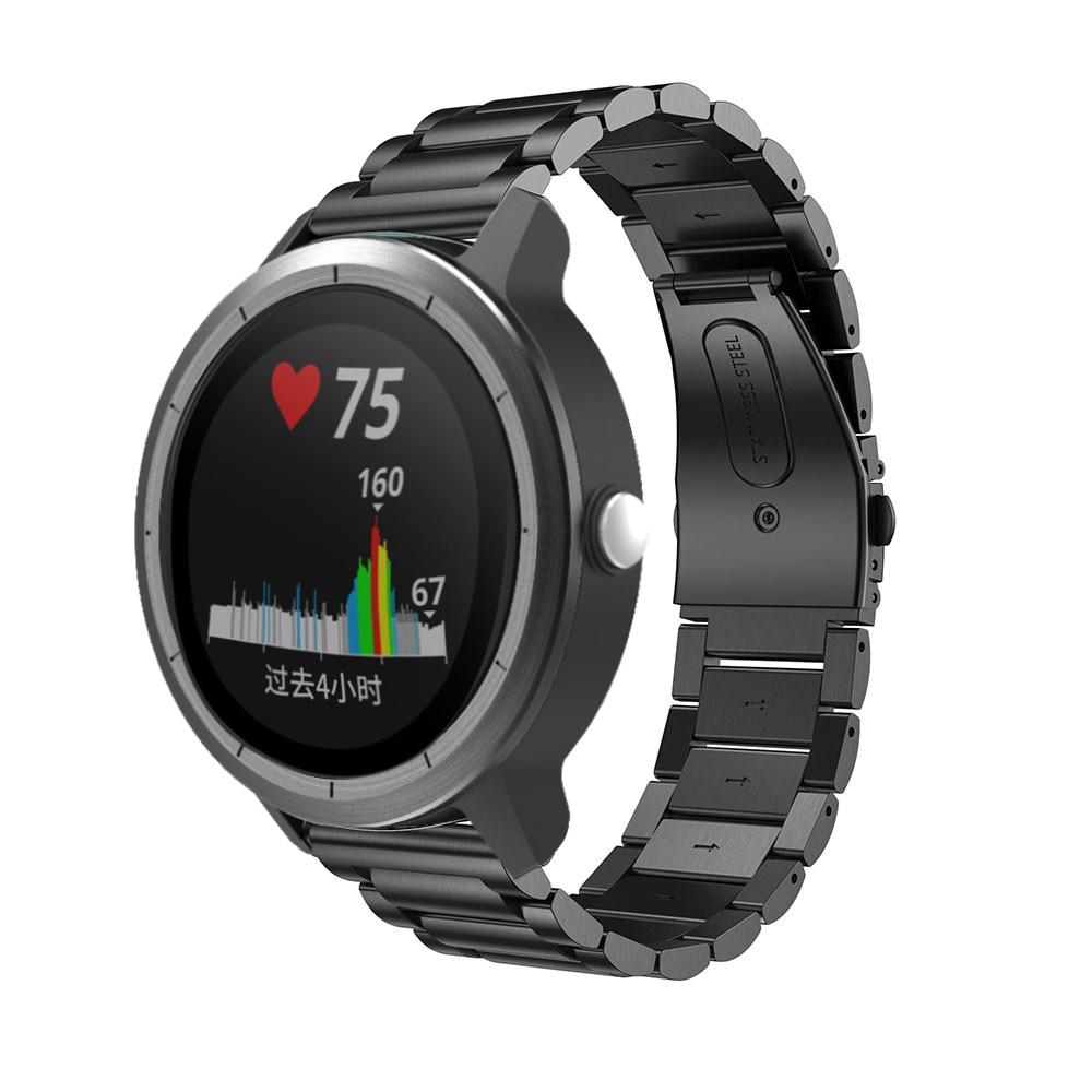 20mm Stainless Steel Watch Band Strap For Garmin Vivoactive 3 Watchband Sport Smart Replacement Bracelet Strap Luxury Metal Belt