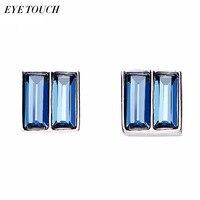OCCHIO TOCCO Cristalli Da Swarovski Orecchini Donna Orecchini S925 Sterling Silver Jewelry Blu Rosa Cristalli Bijoux Carino Chic