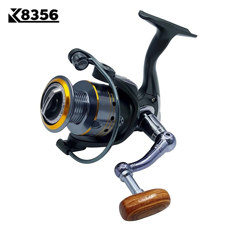 K8356 Fishing Spinning Reel DK1000~DK6000 11BB 5.2:1 Carp Fishing Reel Metal Line Cup Left/Right Handle Saltwater Fishing Reel