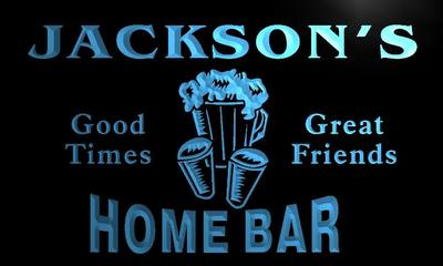 x1013-tm Jacksons Home Bar Custom Personalized Name Neon Sign Wholesale Dropshipping On/Off Switch 7 Colors DHL