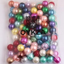 Oykza 20mm 6mm a 28mm grânulos acrílicos grossos da pérola da imitação para a jóia da forma do miúdo colar frisado que faz