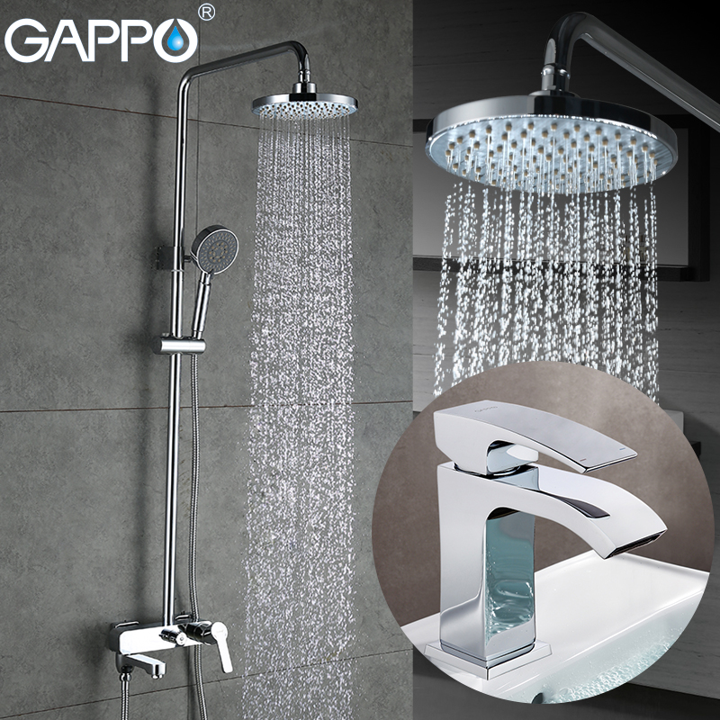 GAPPO Shower Faucets Bath Taps Shower Mixer Tap Waterfall Basin Faucets Water Sink Mixer Shower System