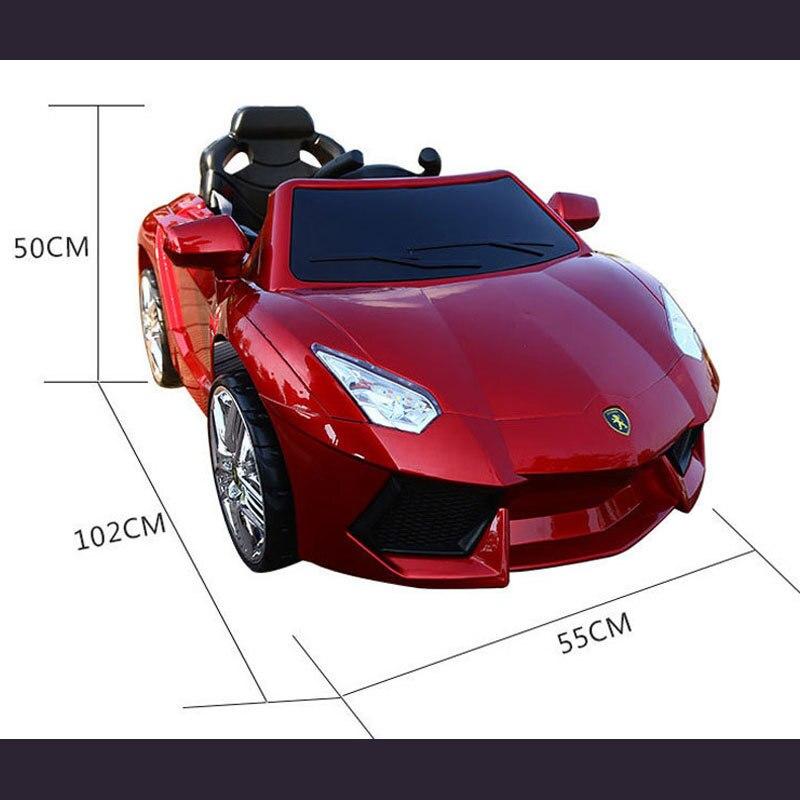 Новый Lamborghini детей электрический автомобиль ездить на четыре колеса удаленного Управление игрушечный автомобиль ребенок может взять аккум