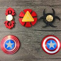 Super Hero Fidget Spinner Iron Man Captain America Bat Man Ironman Batman Theme Hand Spinner Cartoon