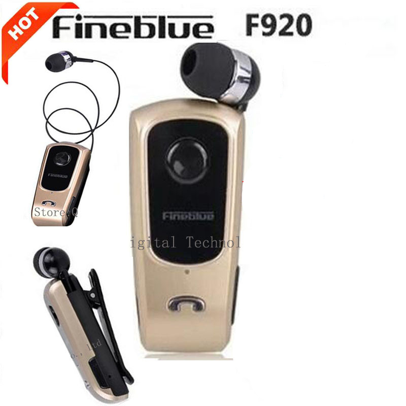 FineBlue F920 Wireless Bluetooth Earphones Headset Clip Retractable Earbuds Calls Remind Vibration Car Kit Driver auriculares fineblue f v3 mini wireless driver auriculares stereo bluetooth 4 0 headset retractable clip running earphone