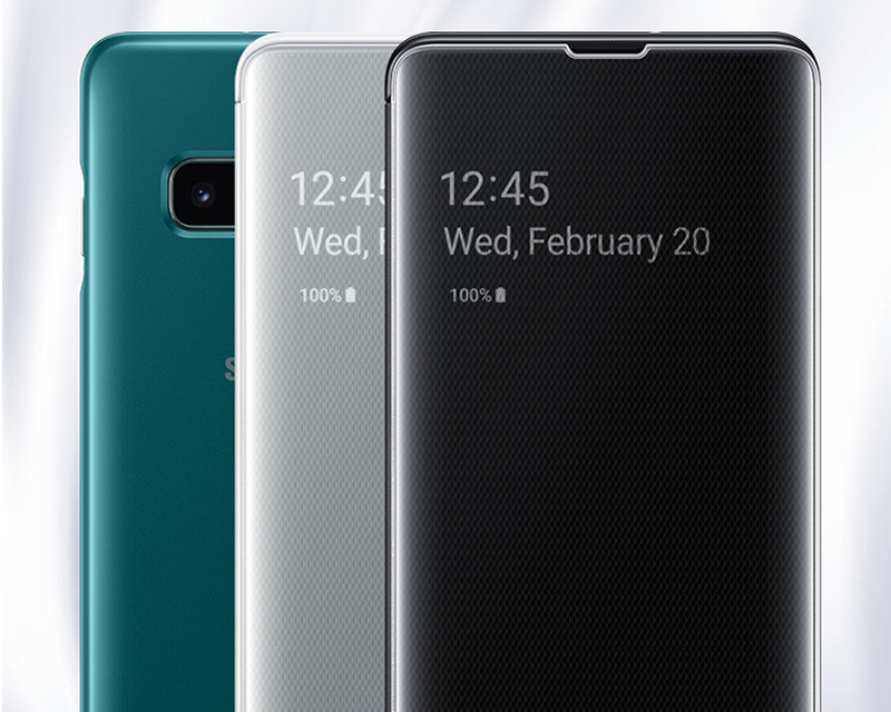 Coque de téléphone avec vue transparente pour Samsung coque de téléphone pour Galaxy S10 X S10 + S10 Plus SM-G9750 S10E SM-G9700 étui mince