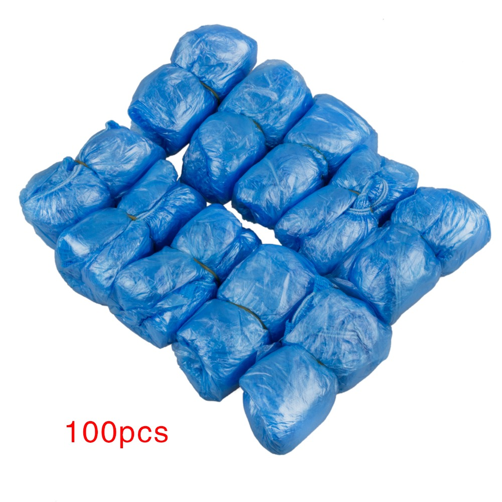 TEXU 100 Pcs Disposable Shoe Covers Carpet Cleaning Overshoes Guests Family