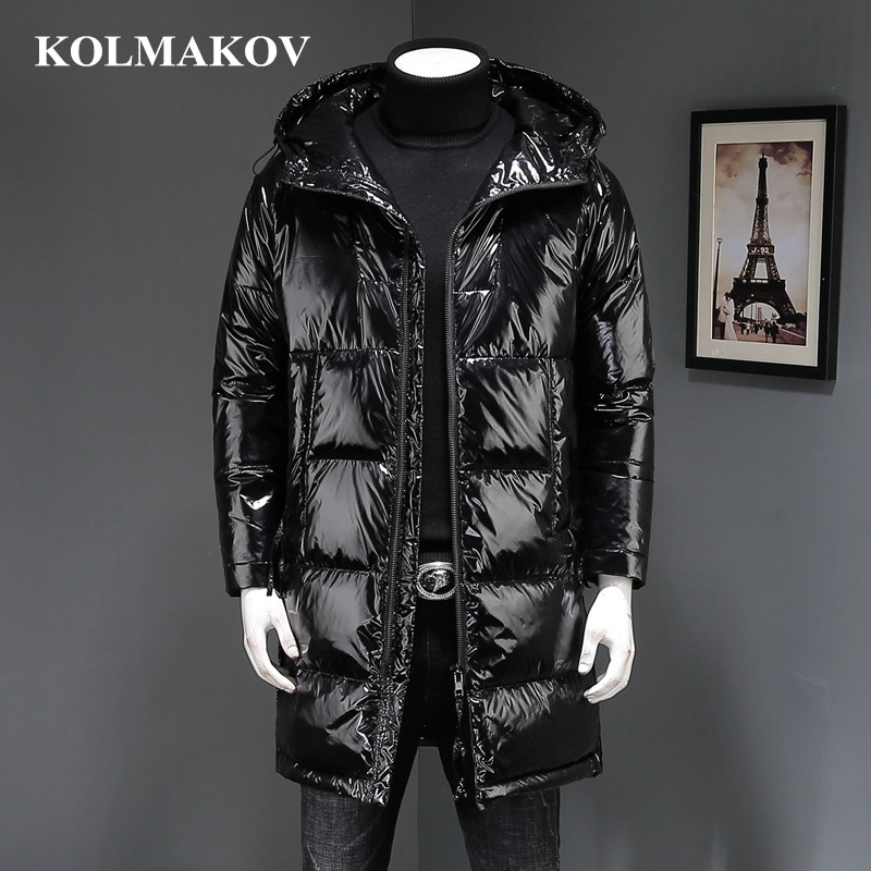 KOLMAKOV 2018 Top Quality New Winter Black Waterproof Long   Coats   Mens Duck   Down     Coats   and Jackets Homme Luxury Dress Men M-3XL