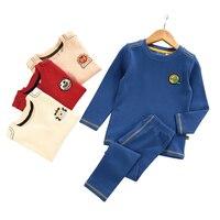 2018 High Quality Baby Boys Long Johns Children Wool Cotton Thermal Underwear Set Toddler Kids Autumn