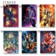 Overwatchs Game Artwork Poster Wall Art Silk poster Frabic Prints Pictures forliving room Home Decoration