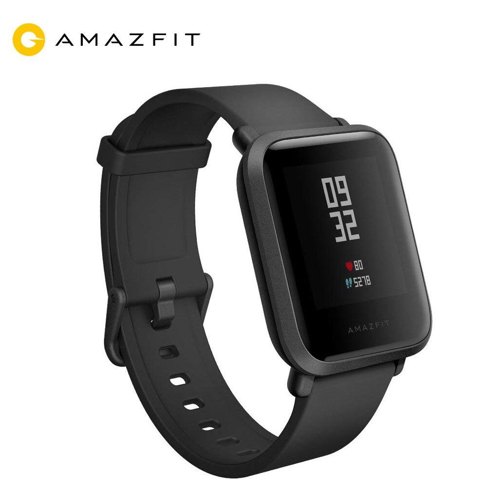 Montre intelligente d'origine xiaomi amazfit bip version anglaise Huami Pace Lite IP68 GPS Gloness Smartwatch fréquence cardiaque 45 jours