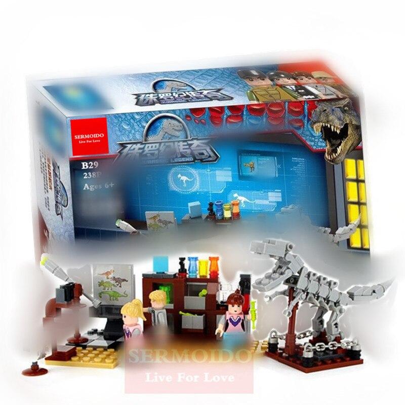 SERMOIDO Fóssil de Dinossauro Série Nova Mega Blocos Educacionais Blocos de Construção DIY Montagem Modelo de Mini Tijolos Brinquedos Melhor Presente B29