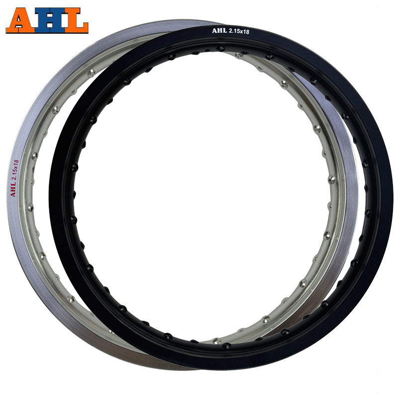 AHL 6061 Aviation aluminum Rear 2.15x18 36 Spoke Motorcycle Rims wheel circle Hole 215 x 18 2.15 18 high strength Black & Silver