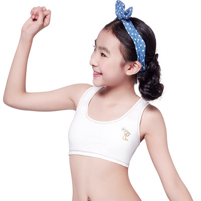 Girls underwear bra puberty without rims cotton vest type ...