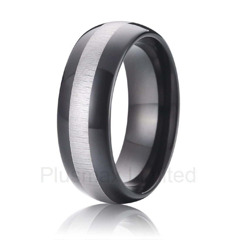 high quality anel masculino titanium exclusive collection 8mm matching black titanium promise wedding band rings jewelry for men anel feminino cheap pure titanium jewelry wholesale a lot of new design cheap pure titanium wedding band rings