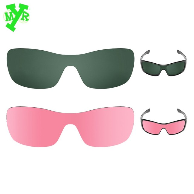 oakley glasses lenses  Grey Green \u0026 HD Pink 2 Pair POLARIZED Replacement Lenses for ...