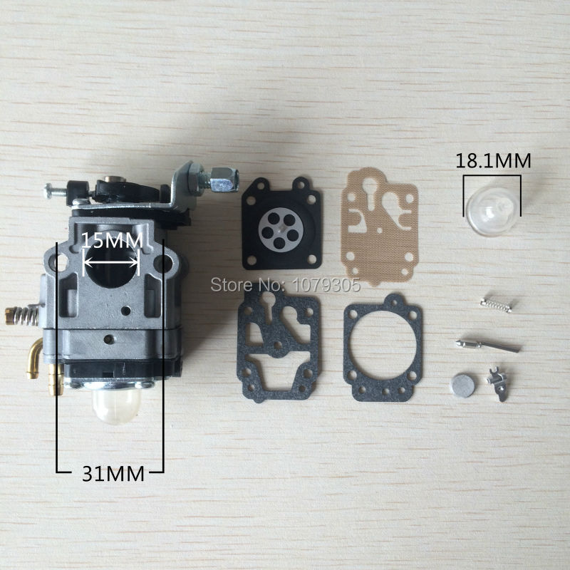 43CC 52CC CG430 CG520 chinois débroussailleuse coupe gazon carburateur avec Kits de réparation