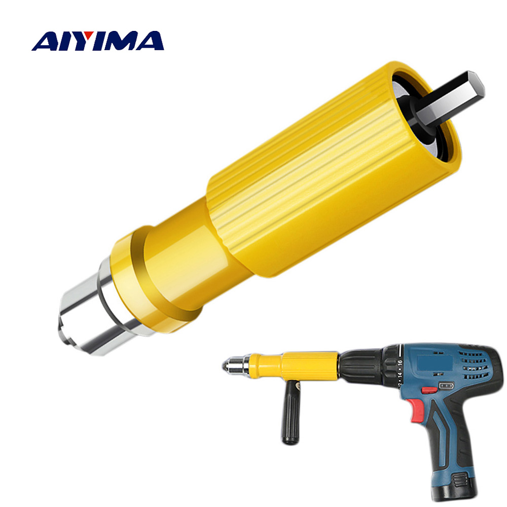цена на 1Set Rivet Nut Gun Hand Manual Riveting Tool Hand Machine Pneumatic Core-pulling Electromechanical Drilling Riveter Gun