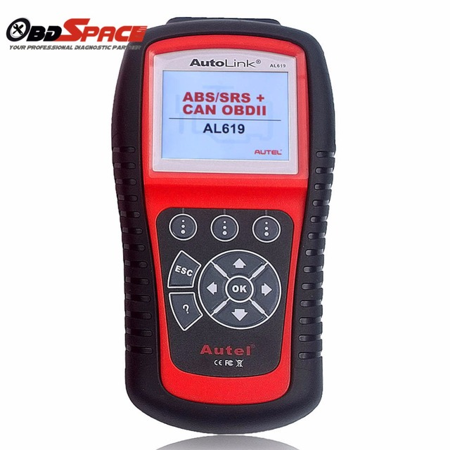 Original Autel Autolink AL619 ABS/SRS Diagnostic Scan Tool Turn off Chcek Engine light Clears Trouble Codes Support OBD2