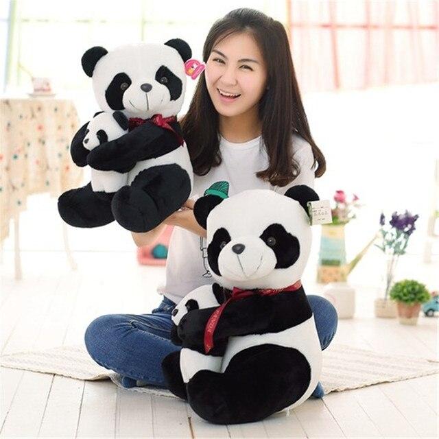 Плюшевая игрушка панда отец и сын