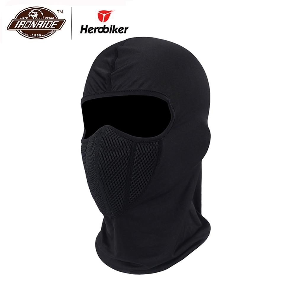 HEROBIKER Motorcycle Face Mask Balaclava Moto Mask Tactical Face Shield Airsoft Paintball Helmet Cap Hat Ski Moto Training Mask