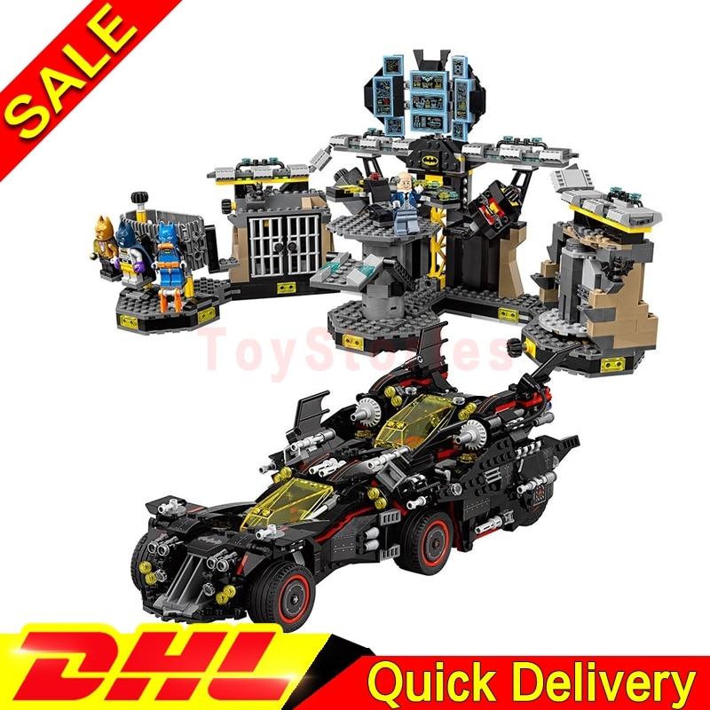 lepin 07077 Ultimate Batmobile Bat Man Lepin 07052 Batcave Break-in Genuine Block marvel Toys legoings Batman Clone 70917 70909