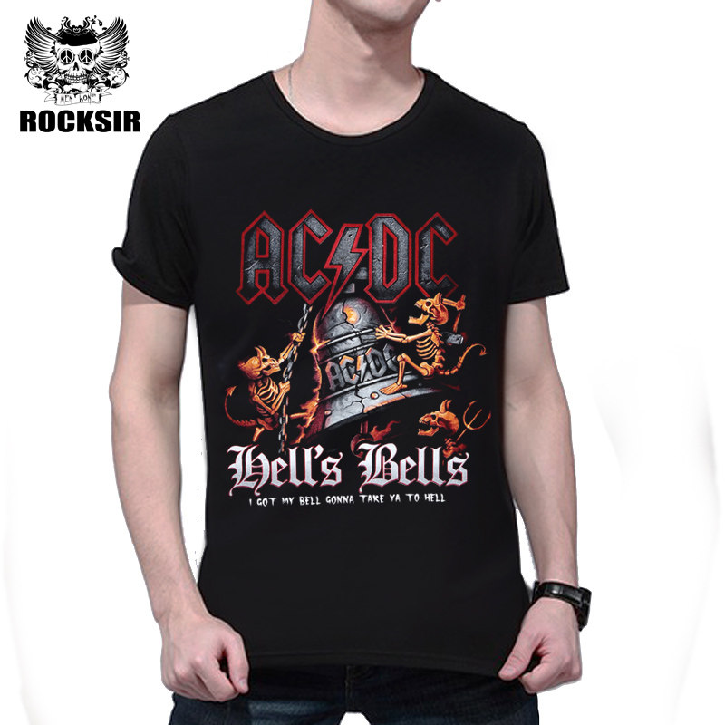 a6547f0ecbd Tops Tees Novelties Men s 3D T-shirts Bell Skull Printed Tshirt Rock Black  Letter Casual Short