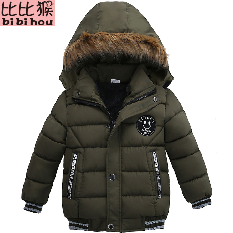 2018 Autumn Winter Baby Boys Jacket Jacket For Boys Children Jacket Kids Hooded Warm Outerwear   Coat   For Boy Clothes 2 3 4 5 Year