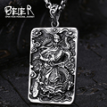Beier new store 316L stainless  steel Pendant Necklace chinese style guanyu charm pendant  BP8-137