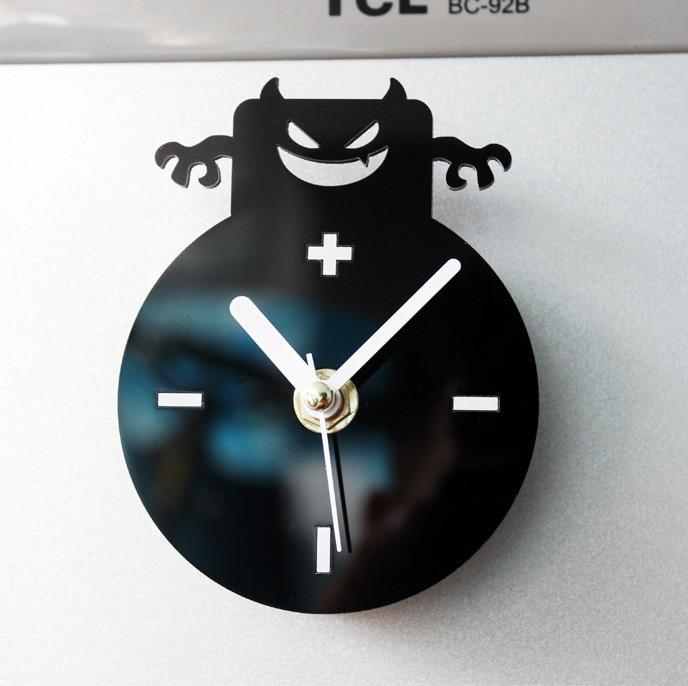 Nice Cool Kitchen Clocks Part - 13: Cool Fashion Creative Small Angel Devil Fridge Magnet Clocks Kitchen Clock (China)