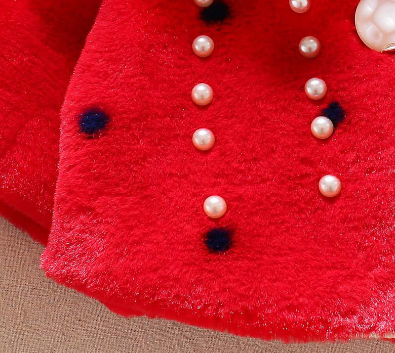 Winter warm thick velvet jacket for baby girls coat princess jackets (4)
