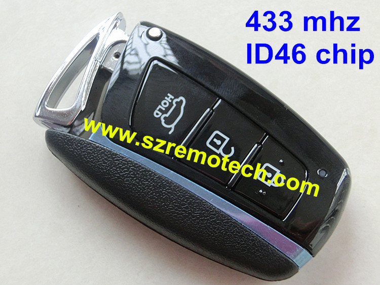 Free Shipping Remote Key 3 button 433MHz ID46 Keyless Entry Fob Fit For Hyundai Santa Fe ID:95440 2W500