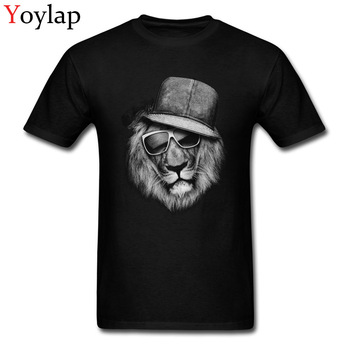 Black Lion Hippie Style High Street Men Fashion T-shirt Unfading Cotton Tops Tee Shirts Breathable Fabric