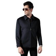 Зимняя шерсть Пальто Куртки мужчины 2016 Лабеф мужчины куртку Бизнес пальто престарелых одежда отец пальто куртки черные куртки(China (Mainland))