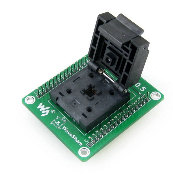GP-QFN32-0.5-A # QFN32 MLF32 Enplas IC Test Socket Programming Adapter 0.5mm Pitch, QFN-32(40)B-0.5-02