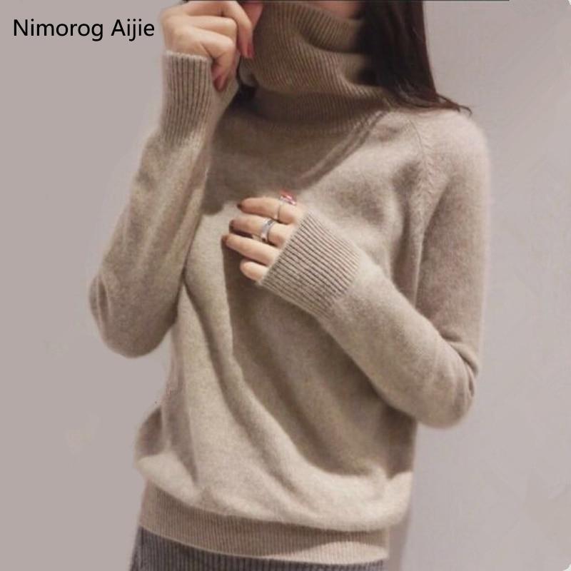 Autumn Winter Sweater Women 2019 New Turtleneck Cashmere Sweater Plus Sizes Sweaters Knitwear Pullover Women Sweater Winter Tops