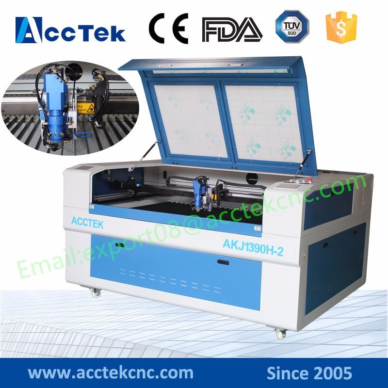 AKJ1390H-2 dual head laser cutter-1