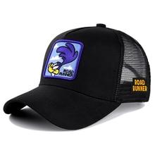 Бренд аниме бегун черная бейсболка кепка хлопок бейсбольная кепка для мужчин и женщин хип-хоп папа сетчатая Кепка Дальнобойщик Прямая поставка